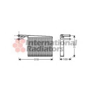 VAN WEZEL 30006372 Радиатор отопителя MERCEDES SPRINTER W 901-905 (95-)  (пр-во Van Wezel)