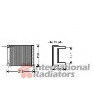 VAN WEZEL 30006385 Heater radiator