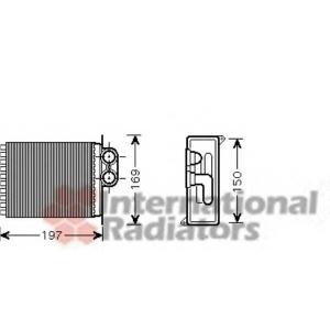 VAN WEZEL 30006400 Heater radiator