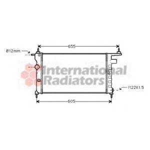 VAN WEZEL 37002183 Радиатор CORSA B/COMBO 1.2/1.4/1.6 (Van Wezel)