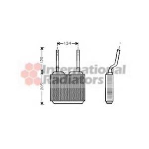 VAN WEZEL 37006132 Радиатор отопителя ASTRA F/VECTRA A/CALIBRA (Van Wezel)
