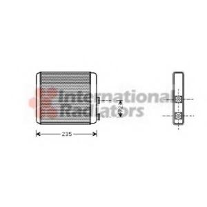 VAN WEZEL 37006321 Радиатор отопителя ASTRA G/ZAFIRA +AC 98-05 (Van Wezel)