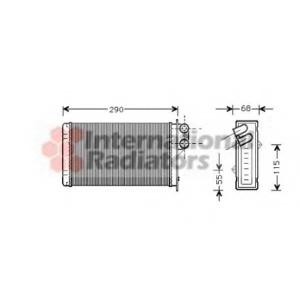 VAN WEZEL 40006100 Радиатор отопителя P405/P406 ALL MT/AT 87-99 (Van Wezel)