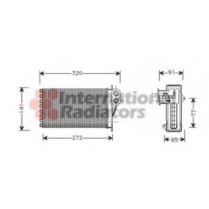 VAN WEZEL 40006199 Радиатор отопителя PEUG 206/CITR PICASSO 99- (Van Wezel)