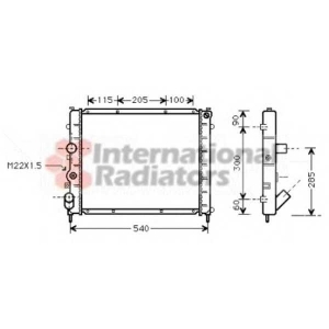 VAN WEZEL 43002215 Радиатор KANGOO 15D/19D MT -AC 97- (Van Wezel) (1-й сорт)