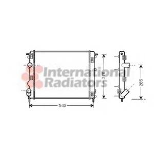 VAN WEZEL 43002270 Радиатор CLIO2/LOGAN/KANGOO 15D 01 (Van Wezel)