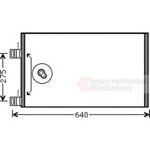 VAN WEZEL 43005444 AC condenser