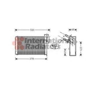 VAN WEZEL 43006099 Радиатор отопителя HEAT KANGOO ALL 97- (Van Wezel) (2-й сорт)