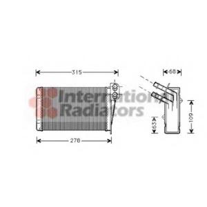 VAN WEZEL 43006228 Радиатор отопителя CLIO2 ALL MT/AT +/-AC 98- (Van Wezel)