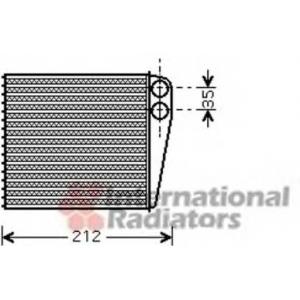 VAN WEZEL 43006396 Heater radiator