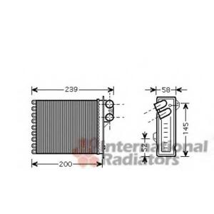 VAN WEZEL 43006398 Радиатор отопителя DACIA LOGAN ALL 04-(пр-во Van Wezel)