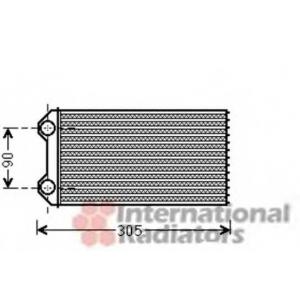 VAN WEZEL 43006439 Радиатор отопителя OPEL VIVARO, RENAULT TRAFIC (пр-во Van Wezel)