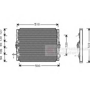 VAN WEZEL 53005244 AC condenser