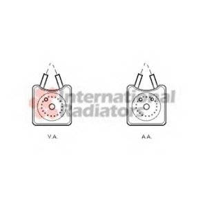 VAN WEZEL 58003147 Радиатор масляный VARIOUS AUDI/FORD/SEAT (Van Wezel)