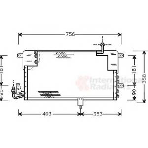VAN WEZEL 58005125 AC condenser