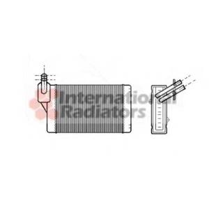 VAN WEZEL 58006060 Радиатор отопителя VW/AUDI/SEAT/SKODA (Van Wezel)