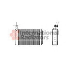 VAN WEZEL 58006061 Радиатор отопителя AUDI/VW/PORSCHE MT/AT (Van Wezel)