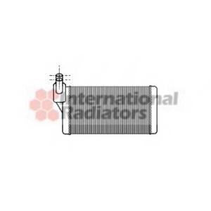 VAN WEZEL 58006097 Радиатор отопителя VW TRANSPORTER ALL 90-00 (Van Wezel)