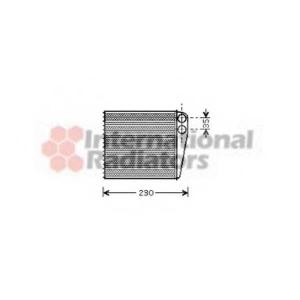 VAN WEZEL 58006229 Радиатор отопителя A3/TOURAN/GOLF5/OCTAVIA(пр-во Van Wezel)