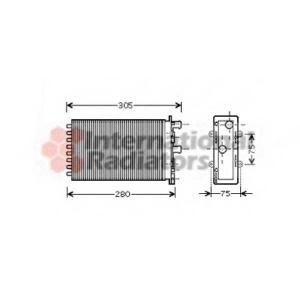 VAN WEZEL 58006239 Радиатор печки салона Т-4