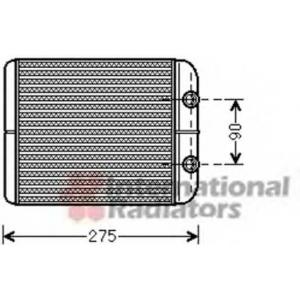VAN WEZEL 58006301 Heater radiator