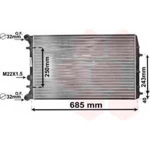 VAN WEZEL 76002010 Радиатор POLO4/FABIA/IBIZA M/J (Van Wezel)