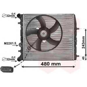 VAN WEZEL 76002013 Радиатор FABIA/POLO4 MT -AC 01- (Van Wezel)