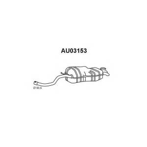 VENEPORTE AU03153 Глушитель выхлопных газов конечный