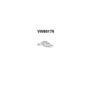 VENEPORTE VW80176 Глушитель средняя часть