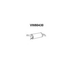 VENEPORTE VW80430 Глушитель выхлопных газов конечный