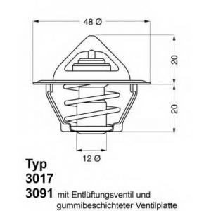 Термостат, охлаждающая жидкость 301792d50 wahler - OPEL KADETT D (31_-34_, 41_-44_) Наклонная задняя часть 1.2
