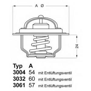 Термостат, охлаждающая жидкость; Термостат, охлажд 303280 wahler - SKODA RAPID (120G, 130G, 135G) купе 1.3 (130G)