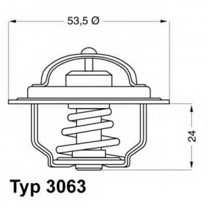 WAHLER 3063.75 Thermostat