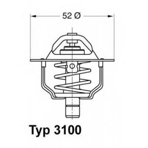 Термостат, охлаждающая жидкость 310088d wahler - FORD SIERRA Наклонная задняя часть (GBC, GBG) Наклонная задняя часть 2.0