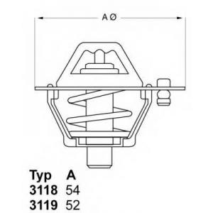 Термостат, охлаждающая жидкость 311888d1 wahler - NISSAN SUNNY II Hatchback (N13) Наклонная задняя часть 1.6 GTI 16V