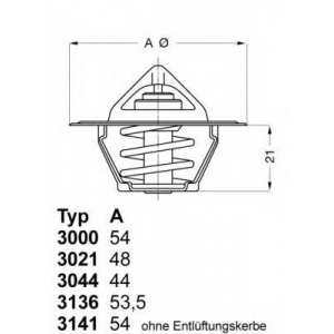 WAHLER 3136.82D50 Термостат CITROEN; PEUGEOT; RENAULT; VOLVO (пр-во Wahler)