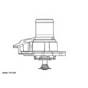 Термостат, охлаждающая жидкость 317182d wahler - PEUGEOT BOXER фургон фургон 2.3 HDi
