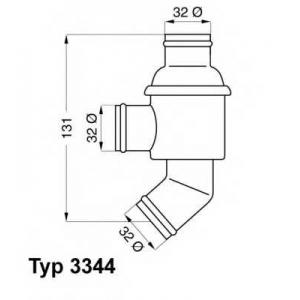 Термостат, охлаждающая жидкость 334480 wahler - BMW 02 (E10) седан 1502