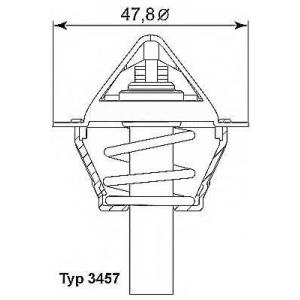 Термостат, охлаждающая жидкость 345790d wahler - MERCEDES-BENZ E-CLASS (W212) седан E 200 NGT (212.041)