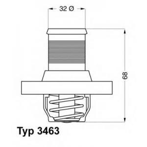 Термостат, охлаждающая жидкость 346389d wahler - PEUGEOT 206 Наклонная задняя часть (2A/C) Наклонная задняя часть 1.1 i