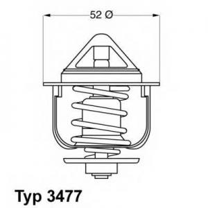 Термостат, охлаждающая жидкость 347788d wahler - VW TARO пикап 2.4 D