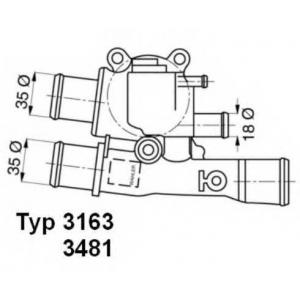 Термостат, охлаждающая жидкость 348188d wahler - FIAT BRAVA (182) Наклонная задняя часть 1.6 16V (182.BH)
