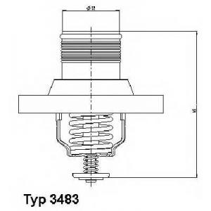 Термостат, охлаждающая жидкость 348389d wahler - CITRO?N XSARA PICASSO (N68) вэн 1.8 16V