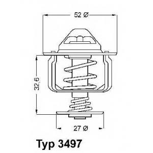 Термостат, охлаждающая жидкость 349788d wahler - PEUGEOT BOXER автобус автобус 2.2 HDi 110
