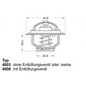 Термостат, охлаждающая жидкость 400874d wahler -