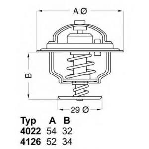 Термостат, охлаждающая жидкость 402282d1 wahler - LANCIA PRISMA (831AB0) седан 2.0 i.e. 4WD