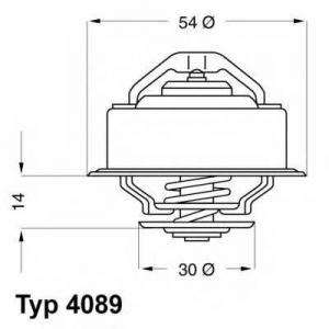 Термостат, охлаждающая жидкость 408987d wahler - VOLVO 240 (P242, P244) седан 2.0