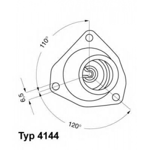 Термостат, охлаждающая жидкость 414482d wahler - OPEL VECTRA A Наклонная задняя часть (88_, 89_) Наклонная задняя часть 1.6 i KAT