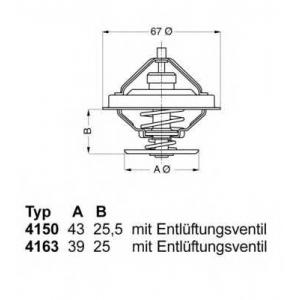 416379d wahler Термостат, охлаждающая жидкость