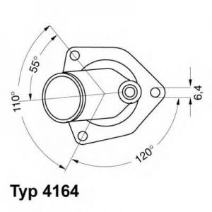 Термостат, охлаждающая жидкость 416492d wahler - OPEL KADETT E Наклонная задняя часть (33_, 34_, 43_, 44_) Наклонная задняя часть 1.8 S